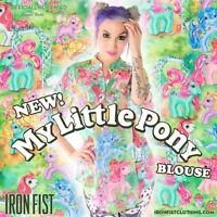 Iron Fist My Little Pony Blouse ❤ Limited Stock! Size XS
