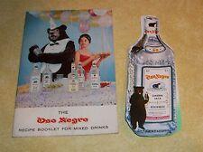 VTG OSO NEGRO BLACK BEAR VODKA GIN RECIPE BOOK COCKTAIL PARTY PAPER BOTTLE RETRO