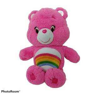 Care Bears CHEER BEAR Pink Rainbow 2016 Plush Stuffed Animal Just Play