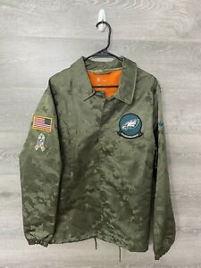 NWT Mens Nike XL OnField Salute To Service Snap Up Repel Jacket PHI Eagles
