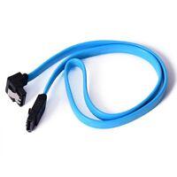 4X 50CM 6GB/s SATA 3.0 III SATA3 SATAiii High Speed Data Cable Angle Cord Blue