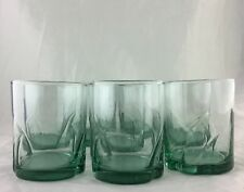 OLD FASHION DRINKING GLASSES SET 8 WHISKEY/BOURBON ROCK BOTTLE-GREEN BARWARE