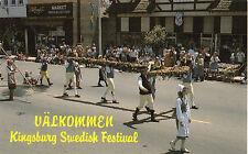 Kingsburg CA Swedish Festival Ualkommen Postcard @1970