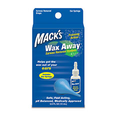 Macks - Wax Away Earwax Removal System With Bulb Syringe