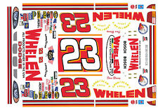 #23 Dave Blaney Dodge Whelen Motorsports 1/64th HO Scale Waterslide Decals