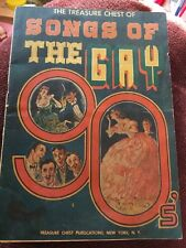 Songs of the Gay 90s Song Book 1943 Treasure Chest 21 Songs Music
