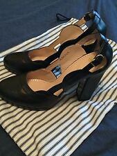 Bally Switzerland Shoes eu-39.5 Block Platform Heels Black Court inANYA dust bag