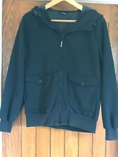 Bench Mens Black Hooded Jacket With Warm Grey Lining Size M