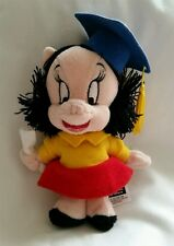 "Warner Bros. Petunia the Pig ""Graduate"" - Mini Bean Bag Plush 7"", 1999"