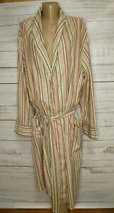 Paul Smith Robe Size Medium 100% Cotton Multicoloured Stripe Dressing Gown