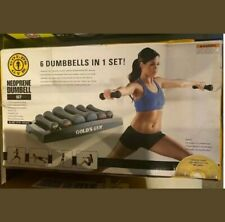 Gold's Gym 32 Lbs Total 6 Dumbell's in 1 Set Women's Lightweight Workout