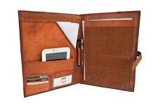 Leather Portfolio Organizer Executive Business Padfolio Folder A4 File Notepad