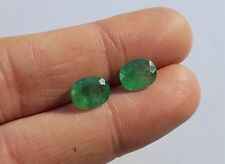 lot de 2 Emeraude Facettée du Brésil 3,65 ct  emerald bijou paire gemstone