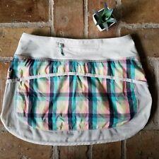 Lululemon Athletica Tennis Skirt Shorts Skort Aurora Plaid Athlesure Size 4