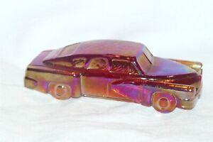 Vintage 1993 Boyd Art Glass Tucker Torpedo Car #23 Ruby Red Carnival EUC