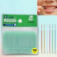 200 Pcs/Bag Tooth Pick 2 Way Dental Picks Oral Health Interdental Brush Hygiene