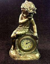 Beautiful, Old Mantel Clock Figurine Clock Deux Tic Tac, De Clago
