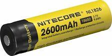 5 x NiteCore NL1826 2600mAh 18650 3,6V 3,7V geschützt erhöhter Pol Li Ion Akku