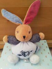 Kaloo. Small Bunny Rabbit Comforter Toy. Blue Denim.