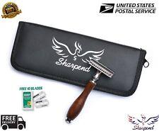 Razor Shaver SAFETY 10 Double Edged Blades Premium Quality+Gift Case