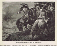King James at the Battle of the Boyne - 1882 Page of European History