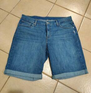 LEVI STRAUSS SIGNATURE Gold Modern Blue Denim Shorts Size 20W Women's