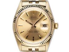 Rolex Datejust 14kt dorado Automatik pulsera Jubilee 36mm ref.1601 Vintage