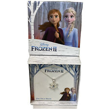 Disney Silver Plated Frozen 2 Snowflake Pendant Necklace New In Box