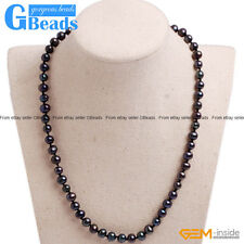 """Handmade 6-7mm Near Round Cultured Freshwater Pearl Necklace 16"""" Free Shipping"""