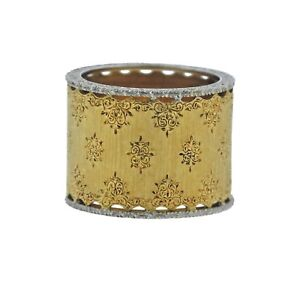 Buccellati 18k Gold Wide Band Ring