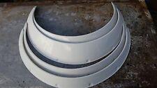 WHITE JDM Fender Flares 2+4 inches universal Fiberglass (4=2 pieces+2 pieces)