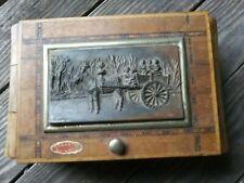 Vintage Cigarette Music Box Wooden Dispenser by Carretto Siciliano