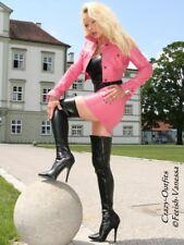 Stiefel Overknee Schwarz Kunstleder Pfennigabsatz US 10 40