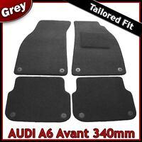 Audi A6 Avant Estate C6 2005-2011 340mm Tailored Carpet Car Mats GREY