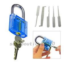 5pcs Creative Practice Pick Set + Keys +Case+Padlock