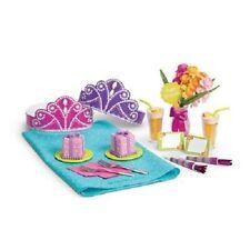 NIB~American Girl Happy Birthday Set~Cake, Flowers, Drinks, NEW** Grace Isabelle