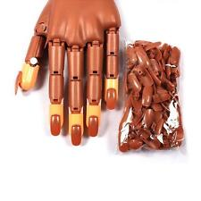 100pcs Nail Care Trainer Practice Flexible Finger Hand Refit With Refill Tips by