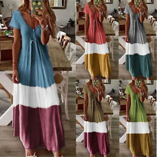 Women Boho Long Maxi Dress Cocktail Party Evening Summer A Line Beach Sundress