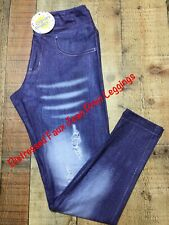 Brand New With Tags Tween Distressed Jean Print Leggings Charlies Project