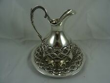 PRETTY solid silver JUG ON STAND, c1960, 470gm