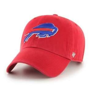'47 Brand Buffalo Bills Clean Up Hat Adjustable Cap - Red