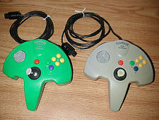 TWO NINTENDO PERFORMANCE SUPERPAD 64 VIDEO GAME CONTROLLERS P-307 AND P-305