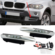 BMW X5 E70 DRL LED Daytime Running Lights Fog Lamp Bumper Kit White 2x 2007-2009