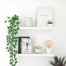 One White High Gloss Matt Wall Floating Shelves Storage Shelving Bookcase Home