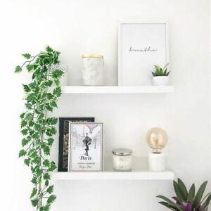 100cm Long High Gloss White Floating Wall Shelf Bookcase DVD CD Storage Unit NEW