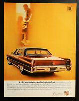 Vtg 1969 Cadillac Fleetwood Brougham 1970 auto car advertisement print ad art.