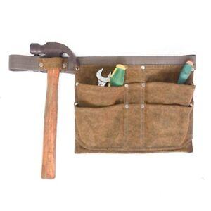 4-Pocket Tool Pouch Builder Hammer Screwdriver Belt Apron Carpenter Work Bag