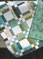Patchwork QUILT PATTERN Jelly Roll or Fat Quarters, simple, fast and easy