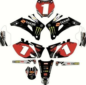 NEW DIRTX INDUSTRIES CUSTOM BOOST COMPLETE GRAPHICS KIT YZ YZF 65 85 125 250 450