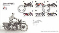 19 JULY 2005 MOTORCYCLES ROYAL MAIL FIRST DAY COVER BUREAU SHS